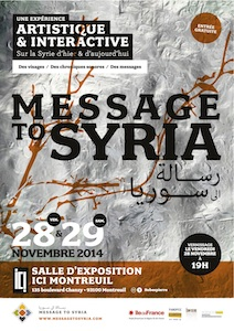 Affiche Message to Syria