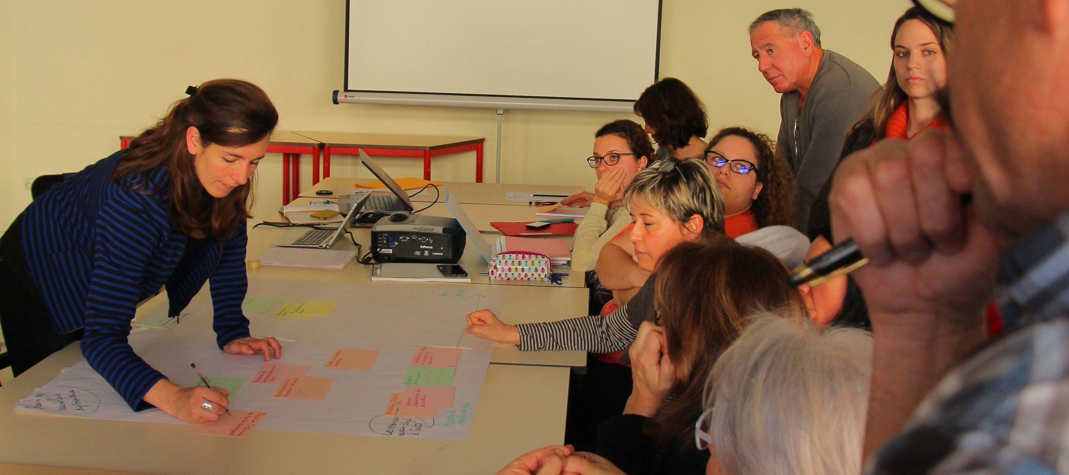 Atelier avec les commerçants à Castelsarrasin